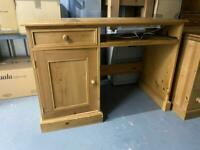 Solid pine desk, with reading light