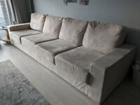 Large 4 5 6 nabru suede modular sofa almost new with storage