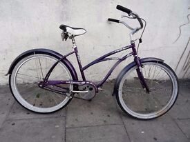 Ladies Beach Cruiser Bike by Electra, Silver & Purple, All Original!!, JUST SERVICED/ CHEAP PRICE!!!