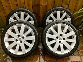 PEUGEOT 17 INCH HOCKENHEIM ALLOY WHEELS