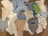 Baby Boys bodysuits 0-3months 29 pieces