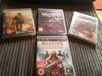 4 Games for PlayStation 3 in perfect condition