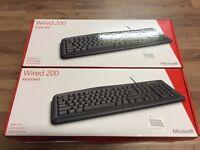8 x Brand New Boxed & Sealed Microsoft Wired 200 Keyboard