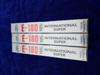 VHS E 180 BLANK VIDEO TAPES STILL IN WRAPPING