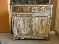 Lovely wooden cabinet could use for a kitchen island