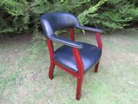 Compact Black Leather Chair