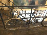 Working Vintage Peugeot Road Bike - includes helmet, locks and lights