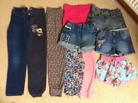 Girls trousers, leggings and shorts, suit Age Approx 10yrs