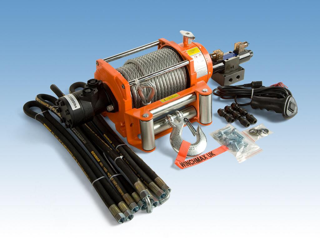 Hydraulic Winch 20000 Lb Winchmax Brand Ebay