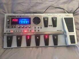 Boss GT-10 effects pedal board with flight case