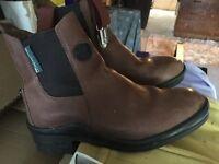 Brown jodphur boots