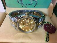 New Swiss Men's Rolex Oyster Datejust Perpetual Automatic Watch, golden dial