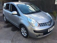 Nissan Note SE 1.4i, 2007/07 Reg, MOT'd 'til 20th June 2017, 1 Previous Keeper, 5 Door MPV, Silver