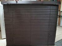 "Brown Faux horizontal blinds for sale - 42"" X 42"""