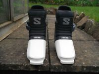 Lady's Salomon SX 60 blue and white Ski boots size 4-5