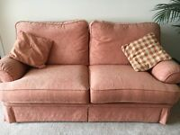 Living Room Suite Comprising of a 3 Seater, 2 Seater and single arm chair in Terracotta