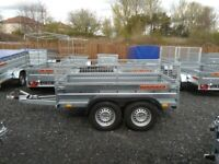 BRAND NEW MODEL 8.2 X 4.3 DOUBLE AXLE MASTER BRAKED TRAILER WITH 40CM MESH AND A RAMP 1300KG