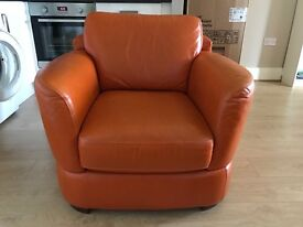 Giotto Leather sofa and armchair for sale