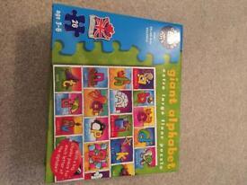 Giant alphabet puzzle