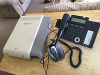 LG ipLDK-20 Business Phone System with 4 x LG Nortel Phones with Plantronics Headsets