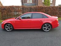 2013 Audi A4 2.0 TDi S Line Black Edition 4dr Saloon Brilliant Red for sale  Lurgan, County Armagh