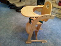East Coast wooden high chair, good condition