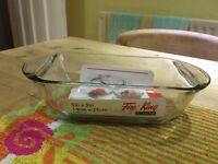 Anchor glass rectangle oven dish loaf style 5inx9in x 5 avaliable.