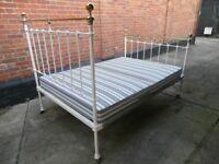 Antique Brass Bed Cream Double
