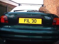 FIL private cherished personalised number plate