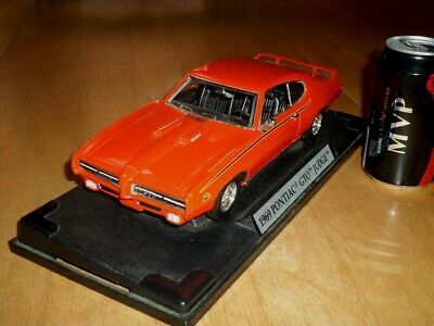 1969 PONTIAC GTO JUDGE, [MOTOR MAX TOY], Die Cast Metal Factory Built Car, 1/18