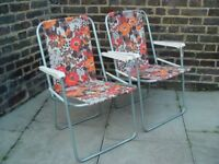 FREE DELIVERY Vintage Camping Chairs Retro Mid Century Furniture