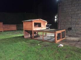 Windsor hutch and run suitable for rabbits , guineas and other small animals!