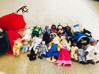Wooden dolls house characters