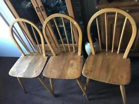 Ercol blonde chairs