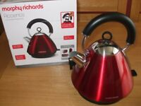 KETTLE - ELECTRIC - NEW - Morphy Richards Accents Pyramid Kettle Red