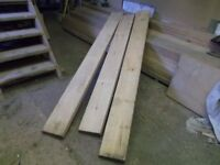 19.2 m of 225 mm x 50 mm new redwood joinery timber