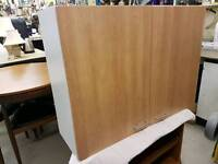 B & Q kitchen wall cabinet 1000 wide in white withight wood doors as new.