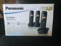BRAND NEW IN BOX - Panasonic Cordless Handsets. Pack of 3