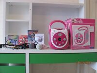 Barbie portable cd&G karaoke player