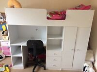 Children's shorty Cabin bed x 3 with mattress