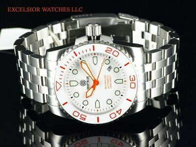 Deep Blue Sea Ram Automatic LE # 0004 White Dial Ceramic Bezel Sapphire SS Watch