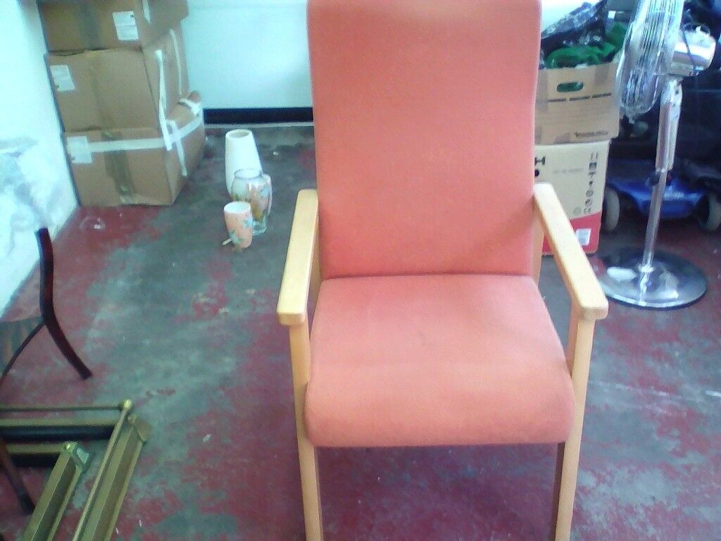 fire side high back chair vgc