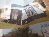 CARAVAN LIGHTWEIGHT PORCH AWNING EXCELLENT CONDITION ONLY USED A COUPLE OF TIMES.