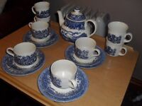 vintage tea set churchill pottery