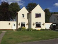 3 BEDROOM EXECUTIVE HOME TO RENT, LARGE GARDENS, QUIET CUL DE SAC KINLOSS, MORAY, SCOTLAND.