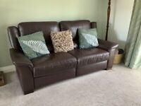Leather sofa and 2 matching chairs