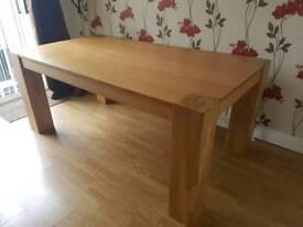 Oak Finish 6 seater table