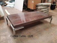 Coffee Table Selling Cheap. BARGAIN. Ex-Stock