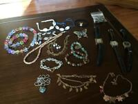 Grab bag watches and costume jewelry