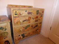 Chest of drawers and blanket box